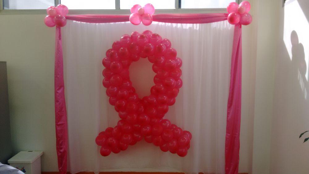 Decoraç u00e3o festas e eventos em geral feito com arte em balões Sandra Festa -> Decoração De Outubro Rosa E Novembro Azul