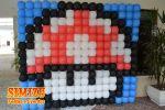 Painel Balões Cogumelo Mario Bros