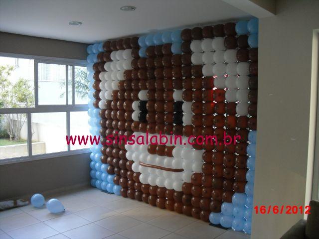decoracao festa urso azul e marrom:Urso Azul e Marrom – Decoração de festas