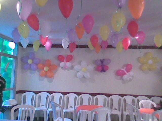 DECORA u00c7ÃO COM BAL u00d5ES Assis Festas BAL u00d5ES E DOCES -> Decoração De Festa Com Balões No Teto