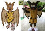 Mascote Morcegão - Pingaiada Futebol Clube - Jatai - GO