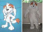 Mascote Grupo Malba Wäcken -Cachorro Branco- Caldas Novas - GO