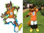 Mascote Lobinho - Led Esportes e Eventos - Guará - Brasília - DF