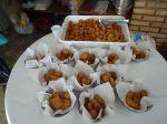 Salgados Fritos ou assados  o cento para entregar prontos, para fritar no local é cobrado