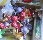 Charuto chocolate trufado:R$ 12,00 Garrafa chocolate Trufada:R$ 15,00 Trufa embalada : R$ 2,50 cada Pedido Minimo: 10 unidades
