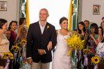 Os Noivos optaram por entrar juntos na igreja - Aline & Brunello 28/08/2015