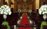 decora��o de igreja branca