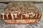 Caixa em mdf chocolate derretido