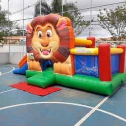 Kit Play Rei Leão 4 em 1 (Pula Pula , Piscina de Bolinha, escaladinha e tobogã)