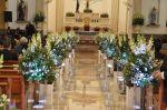 Enlace Roberta & Luciano Decoração cor tifany - igreja São José