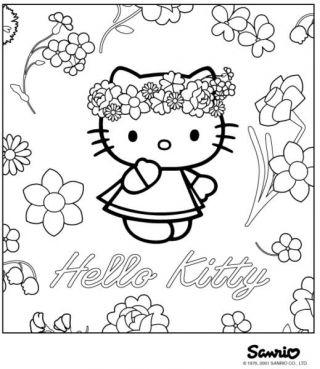 Colorir Hello Kitty Diversao Cia