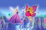 Barbie Butterfly E A Princesa Fada painel festa infantil banner (6)