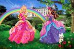 Barbie Castelo De Diamante painel festa infantil banner (5)