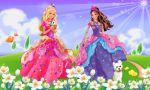 Barbie Castelo De Diamante painel festa infantil banner (4)