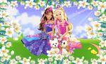 Barbie Castelo De Diamante painel festa infantil banner (2)