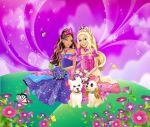 Barbie Castelo De Diamante painel festa infantil banner (1)
