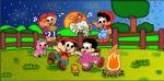 chico bento e rosinha painel festa infantil banner dkorinfest (3)
