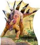 dinossauros display cenario de chao mdf totem dkorinfest (1)