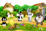 Looney Tunes Baby painel festa infantil banner dkorinfest (12)