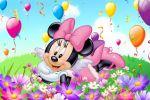 Minnie Mouse Rosa painel festa infantil banner dkorinfest (9)