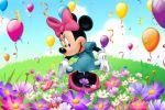 Minnie Mouse painel festa infantil banner dkorinfest (6)