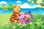 Ursinho Pooh painel festa infantil banner dkorinfest (4)