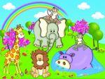 safari baby painel festa infantil banner dkorinfest (1)