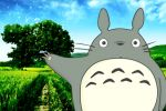 Totoro painel festa infantil banner dkorinfest