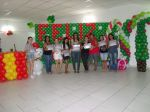 Turma do Curso de arte com balões em Nova Cidade/ SG