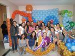 Turma do Curso de arte com balões em Neves/ SG