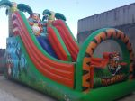 Tobogã Tigrinho - Tamanho 5,50m (C) x 2.80m (L) x 3,70m (A) - Suporta crianças até 12 anos
