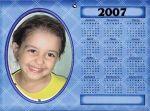 Calendario oval 15x21 Parede