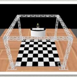 Pista de Dança Formato de Grid
