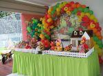mesa decorada festa cocoricó - Itu Salto e região