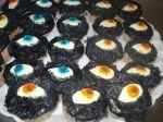 cupcake recheado de brigadeiro halloween