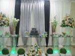 decoração e bolo de casamento.