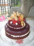 bolo de casamento ou aniversario.