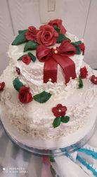 bolo de casamento anos 60