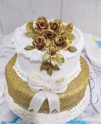 bolo bodas de ouro