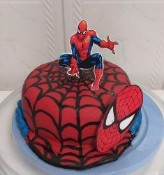 bolo decorado do homem aranha