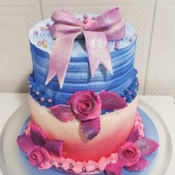 bolo  com flores de pasta americana para casamento.