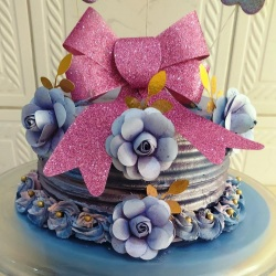 bolo decorado espatulado para casamento.