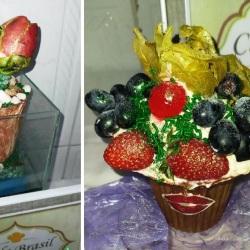 lembrancinhas de chocolate cestinha de frutas.