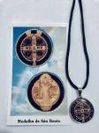 AR2294.Medalha São Bento c/ cordão 23cm