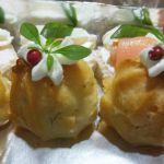 Profiterólis cream cheese