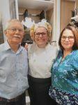 Pai e Mãe da Chef Cátia Pontin presentes no Workshop de Natal na Loja Camicado/Canoas