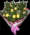 Buquê de rosas 1 dúzias - Rosas amarelas
