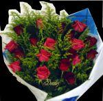 Buquê de rosas 2 dúzias - Rosas vermelhas e pink
