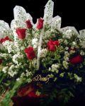 Cesta de Rosas 1 dúzia - Rosas vermelhas