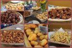 Mesa de comida de boteco